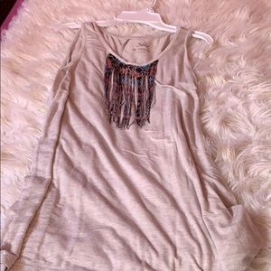 Justice tank top with Tassels